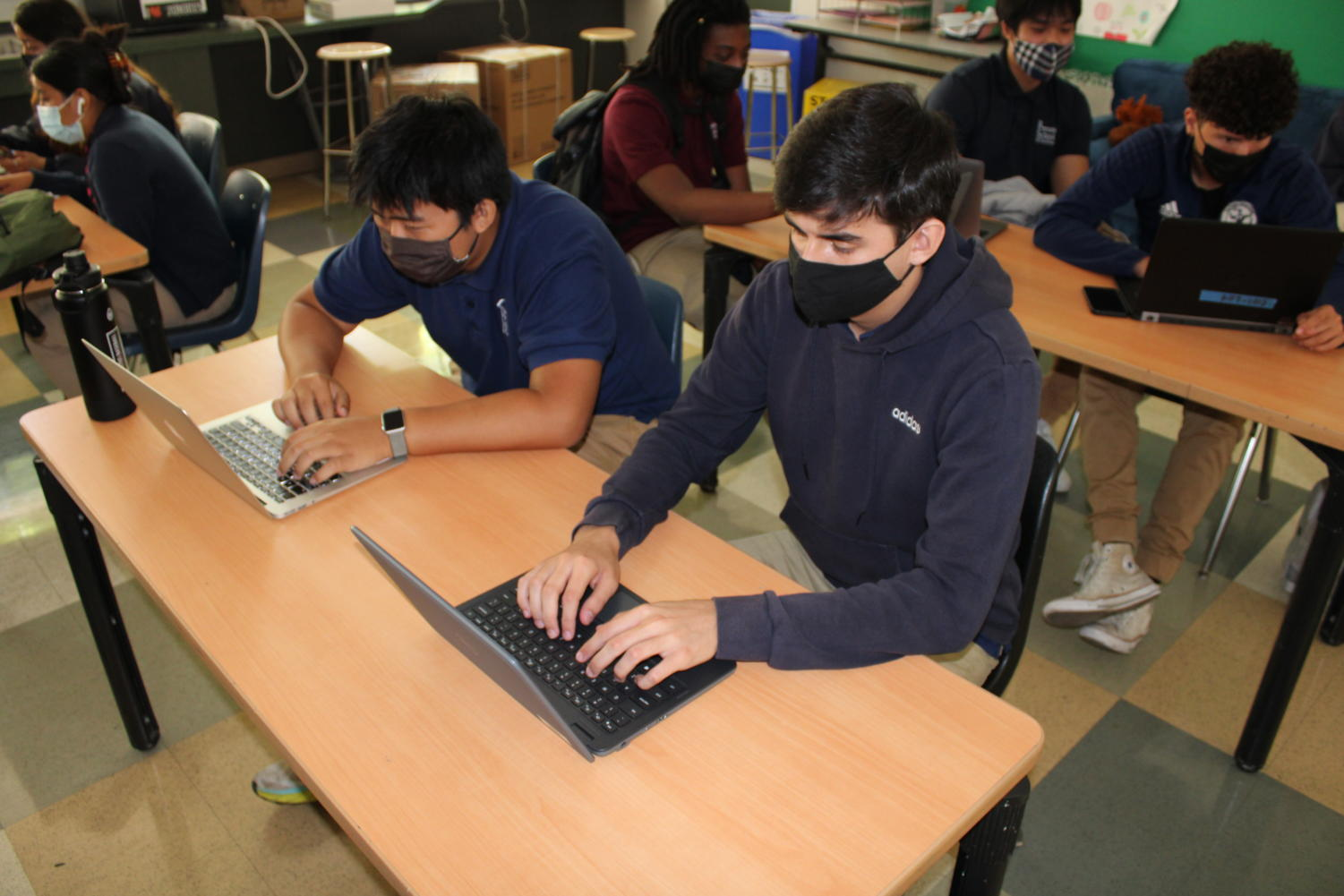 Students Transition from Online to In-Person School